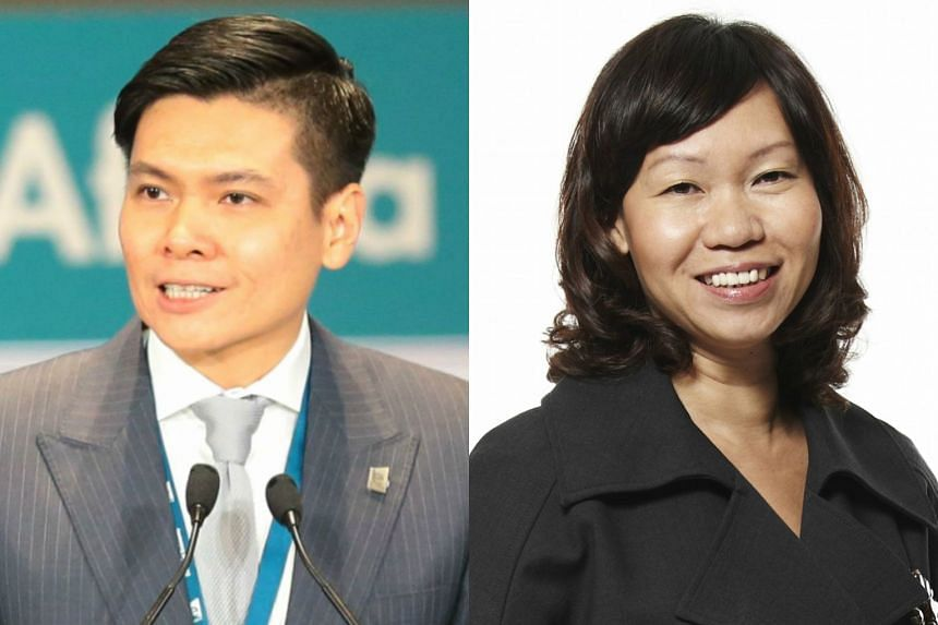 Mr Lee Ark Boon (left) will step down as the CEO of IE Singapore, on Dec 31. Ms Kathy Lai will take over as Acting CEO with effect from Jan 1.