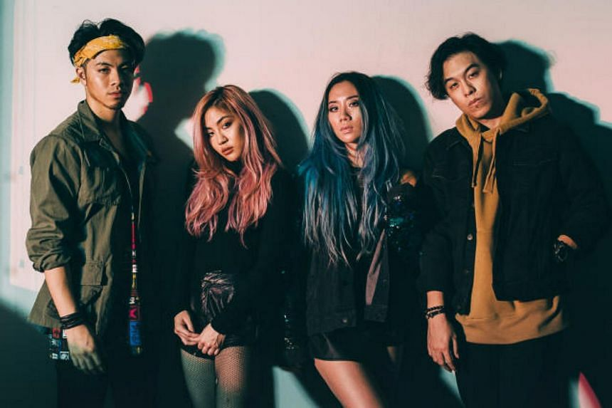 (From left)  Benjamin and Narelle Kheng, Sandra Riley Tang and Jon Chua of The Sam Willows.