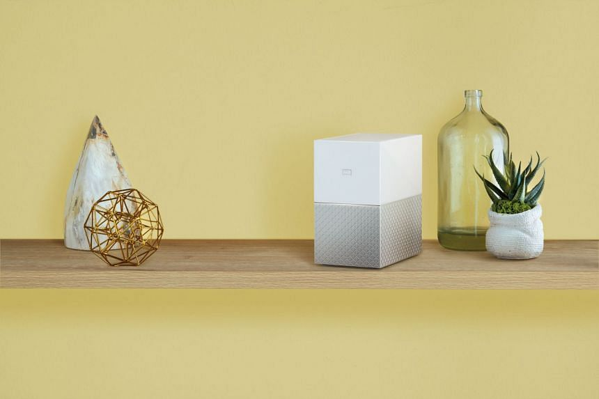 The WD My Cloud Home Duo blends into the home with its dual-tone design and lack of front buttons. PHOTO: WD