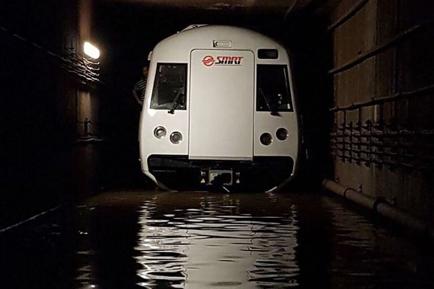 An unprecedented flooding of train tunnels crippled a large section of the North-South Line on Oct 7 and 8, 2017.