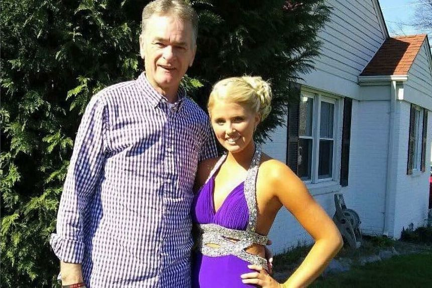 Bailey Sellers and her father, Michael Sellers.