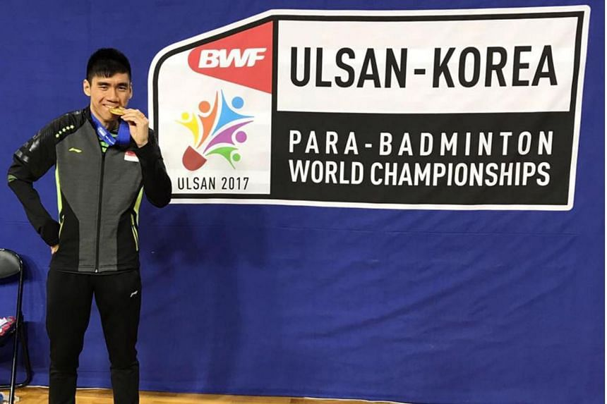 Shuttler Tay Wei Ming, together with Indonesian Suryo Nugroho, beat top seeds Cheah Liek Hou and Hairol Fozi Saaba of Malaysia 18-21, 23-21, 21-18 in the final in Ulsan, South Korea.