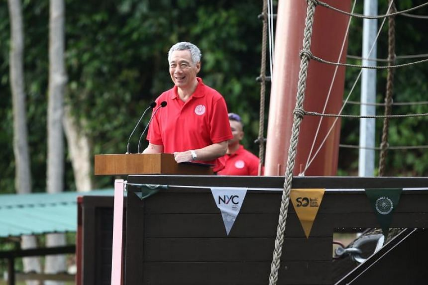 Prime Minister Lee Hsien Loong shared his experiences with the OBS programme during the Outward Bound 50th Anniversary Book launch.