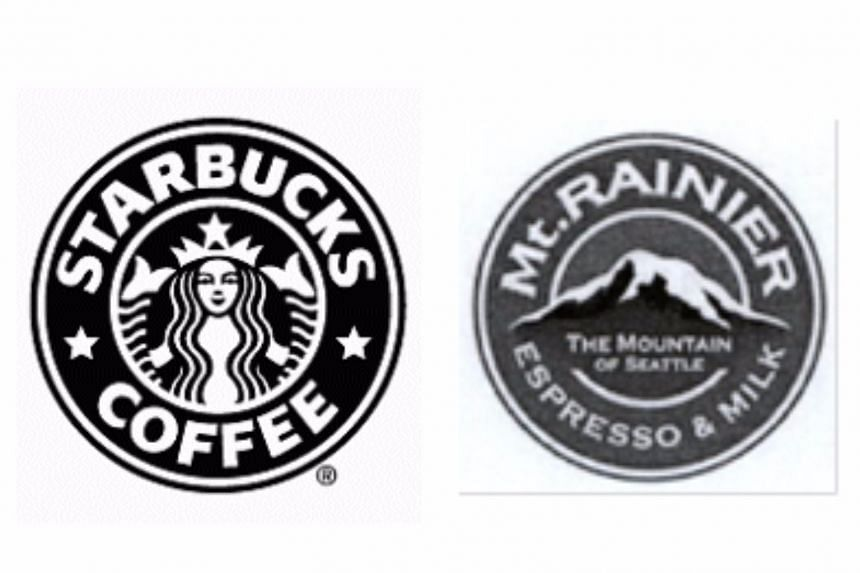 Starbucks argued that the Mt Rainier logo looked too similar to its own logo.