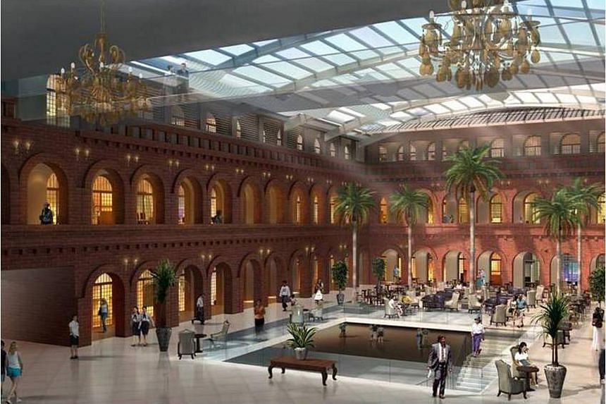 Artist's impression of The Peninsula Yangon, the former headquarters of the Burma Railway Company which will be restored into a luxury hotel.