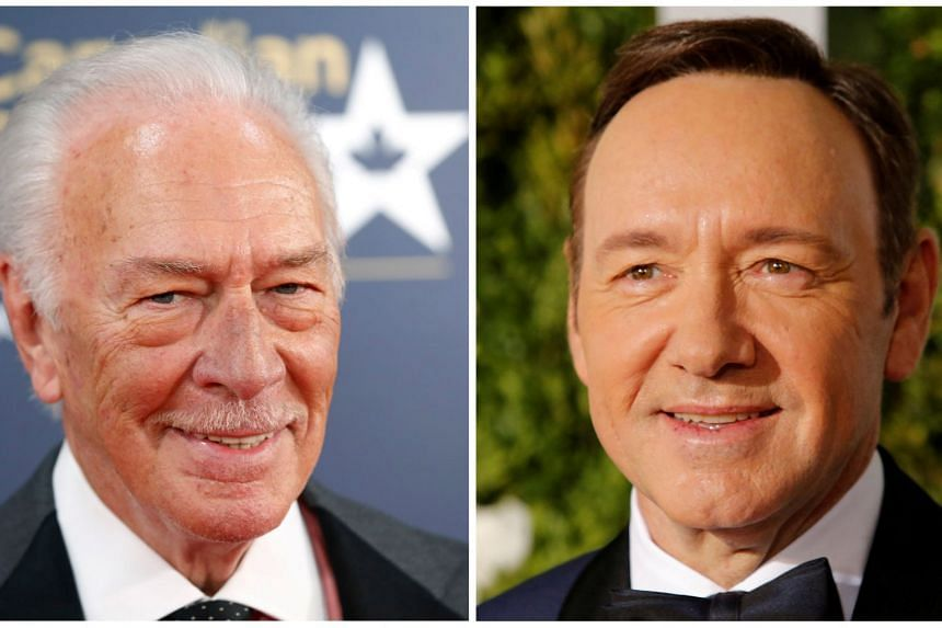 Director Ridley Scott tapped Christopher Plummer (left) to replace Kevin Spacey (right) in the upcoming film All The Money In The World although the movie had already been shot and was slated for a Dec 22 release.