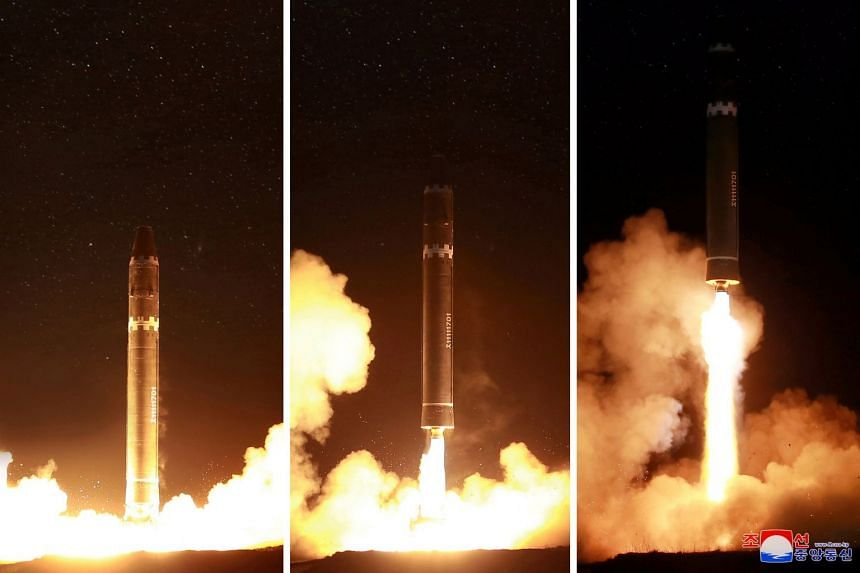 The newly developed intercontinental ballistic rocket Hwasong-15's test was successfully launched.