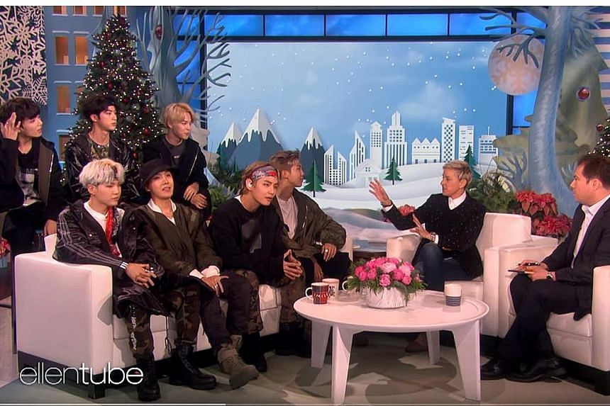 BTS gave their first television performance of Mic Drop and shared some personal stories on The Ellen DeGeneres Show.