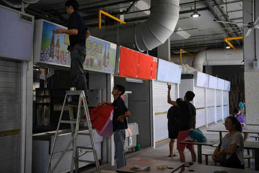 The hawker centre at Marsiling Mall, still undergoing renovation, is expected to receive its first customers on Dec 15.