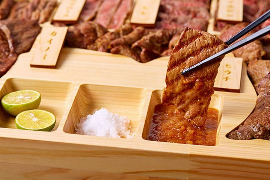 The wasabi, and the pears used in the dipping sauce, are all grown in Tottori, a region on the west coast of Japan famed for its sand dunes.