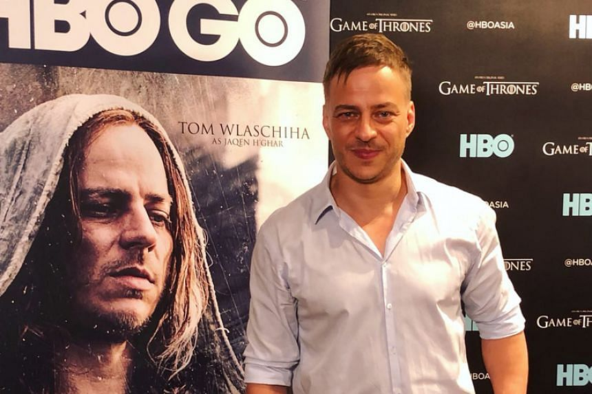 German actor Tom Wlaschiha, who plays Jaqen H'ghar on Game of Thrones, is in Singapore for HBO Asia's 25th Anniversary.
