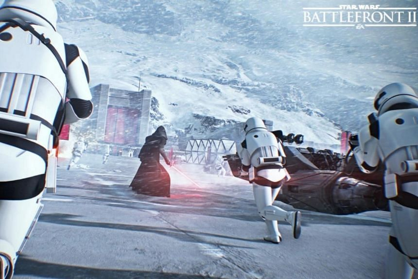 The new Star Wars: Battlefront II prompts players to chance money on loot boxes, which hold unknown assortments of in-game goods, to advance through the game.