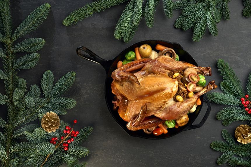 ST readers can now order the Garlic Glazed Baked Turkey via the ST Wine online site.