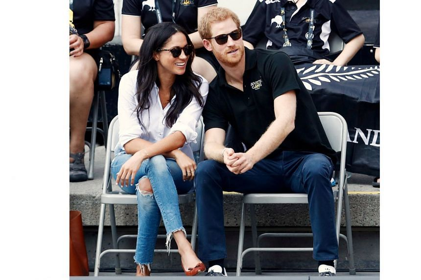 Meghan Markle in ripped jeans (with Prince Harry) at the Invictus Games in September in Toronto.