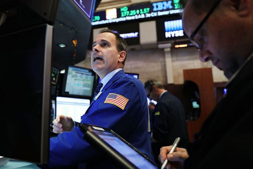 Traders working on the floor of the New York Stock Exchange on Nov 29, 2017.