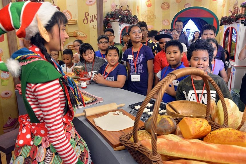 Christmas came early for more than 400 underprivileged children from South West Community Development Council as Resorts World Sentosa and Universal Studios Singapore invited them to enjoy the holiday festivities and rides at the theme park yesterday