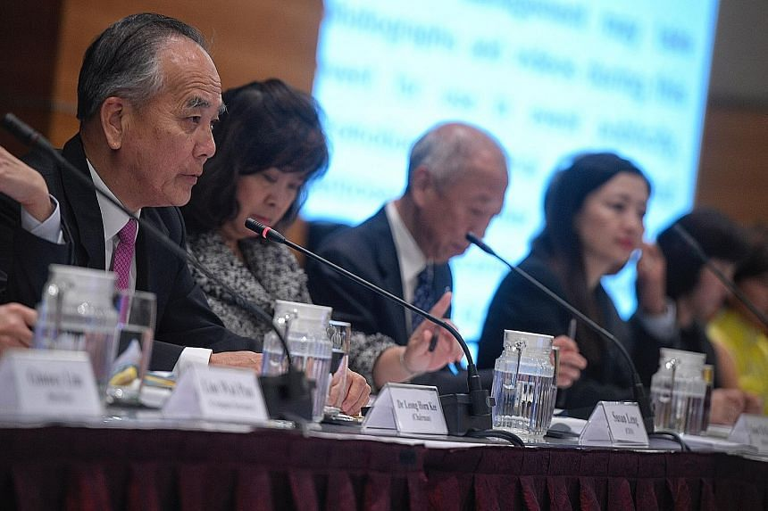 (From left) SPH Reit Management chairman Leong Horn Kee, chief executive of the Reit manager Susan Leng and SPH Reit directors Soon Tit Koon and Rachel Eng at yesterday's annual general meeting. Some 280 investors attended this year's meeting at SPH