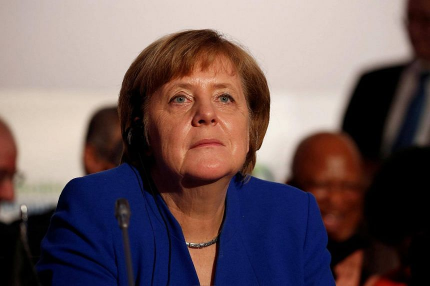 German Chancellor Angela Merkel attends the 5th African Union - European Union (AU-EU) summit in Abidjan, Ivory Coast on Nov 29.