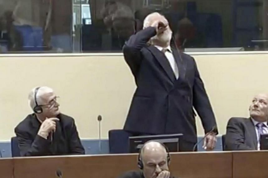 Former Bosnian Croat military leader Slobodan Praljak died shortly after drinking poison in the courtroom after hearing his 20 year conviction for war crimes upheld on Nov 29, 2017.