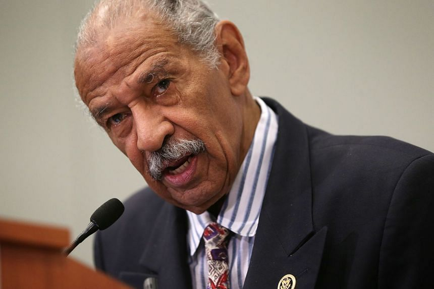 Democratic lawmaker John Conyers (above) has been hospitalised for stress.