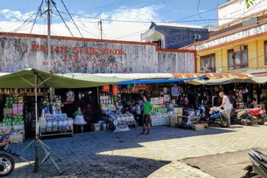 Pasar Sebengkok in Tarakan town, North Kalimantan.