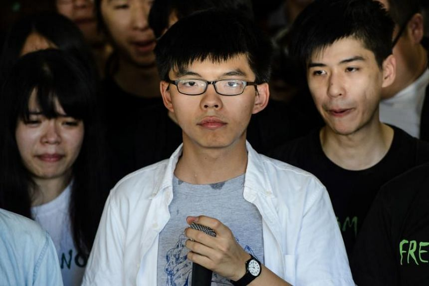 Joshua Wong was jailed in August 2017 for his role in the Umbrella Movement mass pro-democracy protests of 2014.