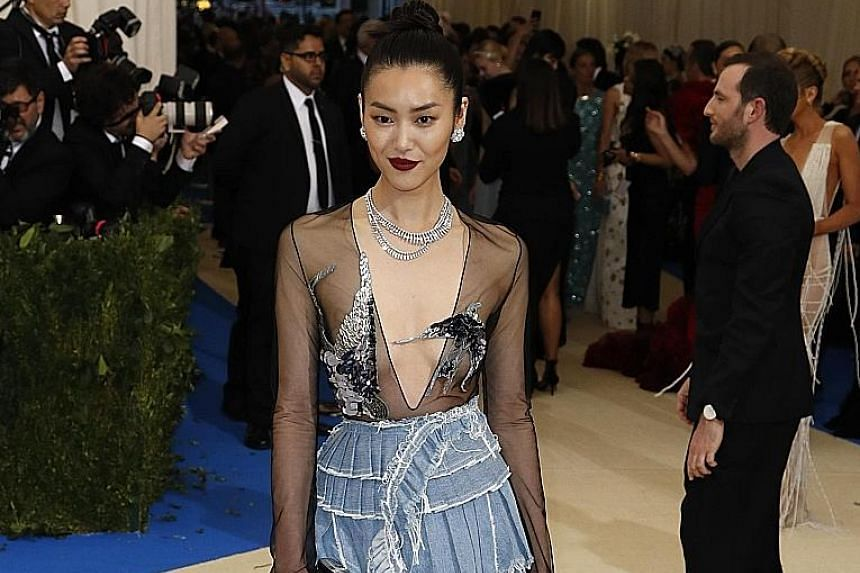 Chinese supermodel Liu Wen at the Met Gala in New York earlier this year.