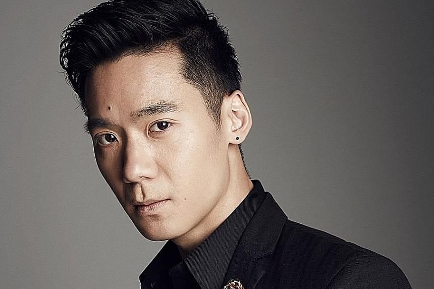 While learning to do backflips for Flying Through Time, actor Joshua Tan (above) landed on his neck.