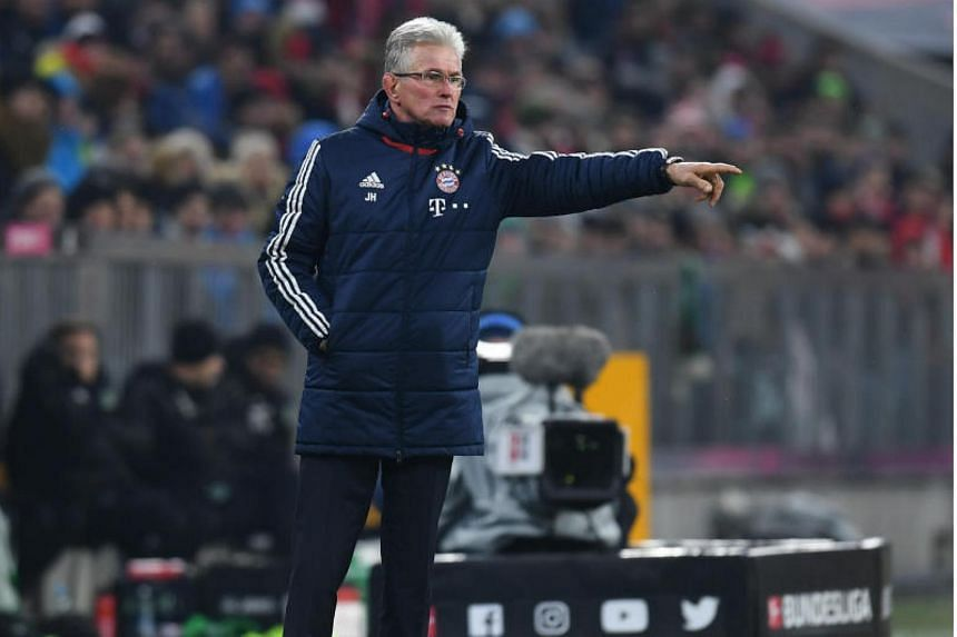 Bayern Munich's headcoach Jupp Heynckes gestures during his team's clash with Hannover 96.