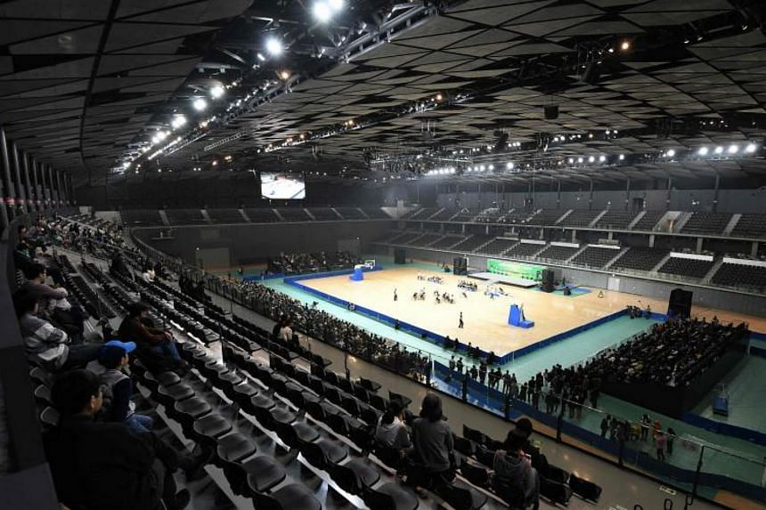 The main arena of Musashino Forest Sports Plaza in Tokyo, which will host badminton during the 2020 Tokyo Olympic Games.