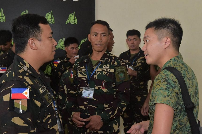 40 Philippine soldiers are in Singapore for training to build on their expertise in urban warfare.