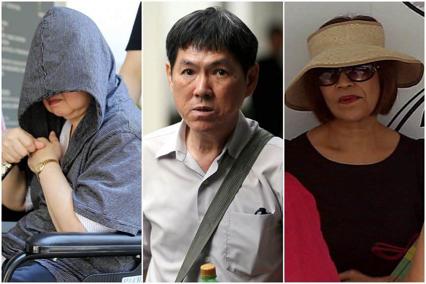 (From left) Setho Oi Lin, Nah Hak Chuah and Ivy Cheo Soh Chin pleaded guilty to their roles in the Keppel Club fake membership scam.