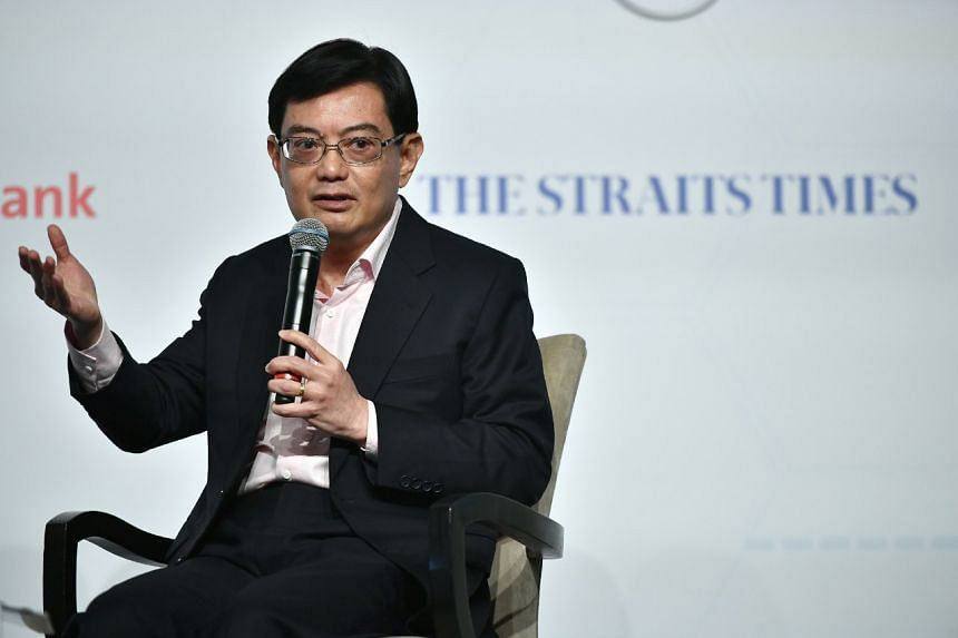 Finance Minister Heng Swee Keat at The Straits Times Global Outlook Forum at the Ritz-Carlton on Dec 5, 2017.
