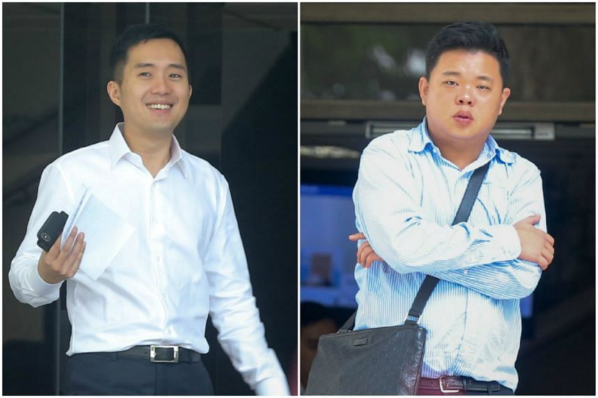 Terence Tan En Wei (left) and Yao Songliang face four charges each for renting out their private property to others for under six months.