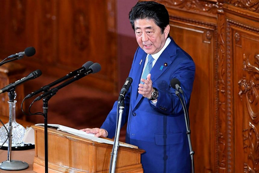 Japan's Prime Minister Shinzo Abe (pictured) expressed hopes to host a trilateral summit involving Chinese Premier Li Keqiang and South Korean President Moon Jae In before the end of this year.
