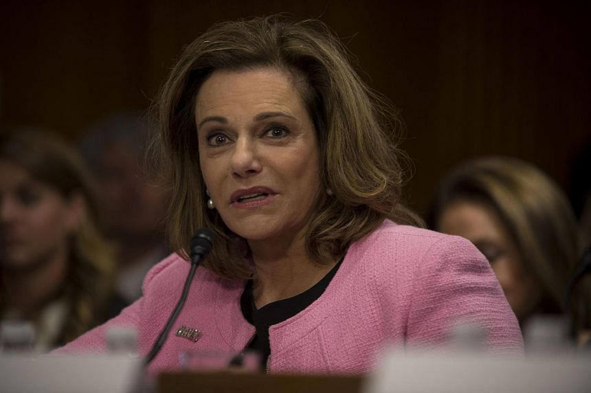 A file photo of K.T. McFarland at a confirmation hearing on Capitol Hill in Washington, on July 20, 2017.