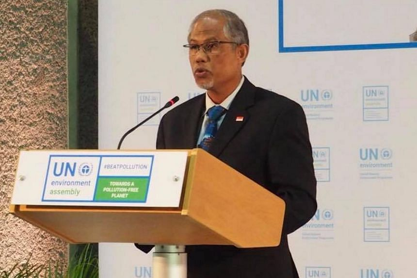 Minister for the Environment and Water Resources Masagos Zulkifli said Singapore is addressing climate change and pollution on its own shores and rallying support from its citizens on Dec 5, 2017.