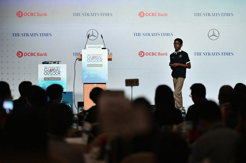 """Cyber whizz-kid Reuben Paul demonstrated how easily devices connected to the """"Internet of Things"""" can be hacked, at the ST Global Outlook Forum 2018 held at the Ritz Carlton."""