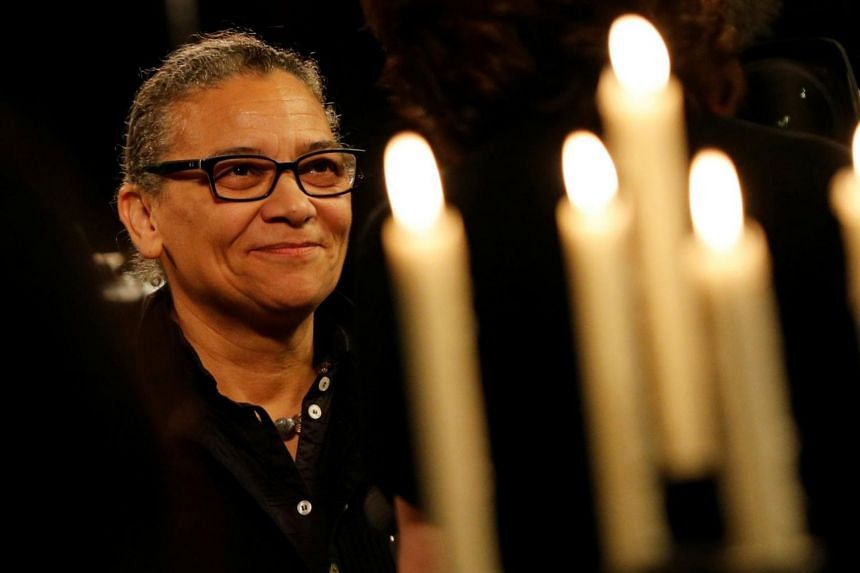Artist Lubaina Himid speaks after being announced as the winner of the Turner Prize.