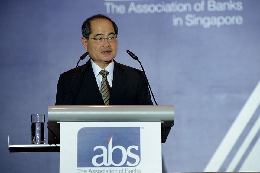 Minister for Trade and Industry Mr Lim Hng Kiang speaking at the Association of Banks in Singapore's (ABS) 43rd Annual General Meeting and Annual Dinner at Raffles City Convention Centre, on June 28, 2016.
