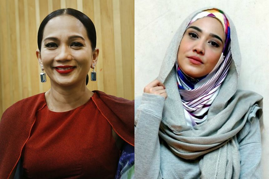 Malaysia's diva Sheila Majid (left) and popular actress Nur Fathia Latiff have raised uncomfortable questions against the government in recent days.