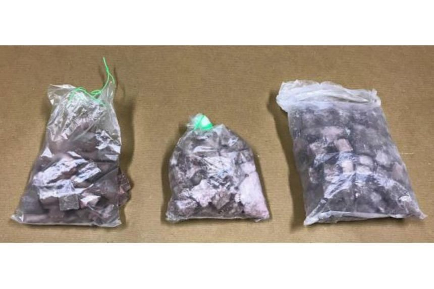 About 1kg of heroin was found inside the Toa Payoh East unit, while the remaining amount was recovered from a 44-year-old man, who was arrested near Tampines Street 44.