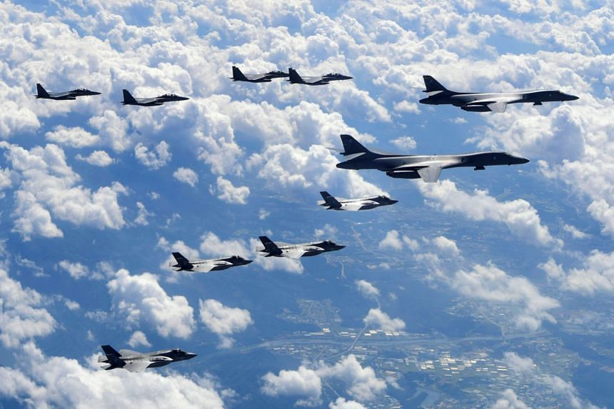 The US will deploy B-1B Lancer bombers to the Korean peninsula as part of a joint exercise with South Korea involving 230 warplanes.