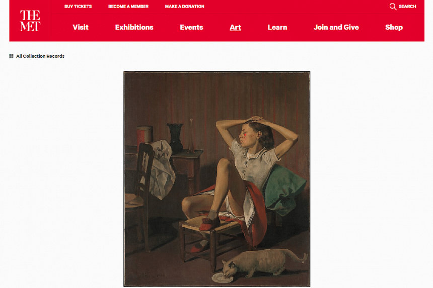 A screenshot of the 1938 painting entitled Therese Dreaming from the Met museum website.