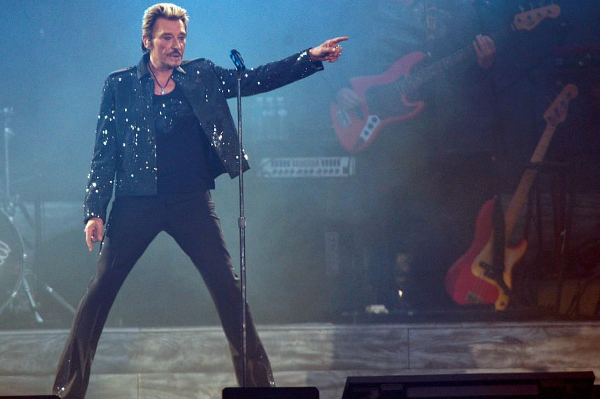 Singer Johnny Hallyday, often called the French Elvis Presley, sold more than 100 million records in a career spanning six decades.