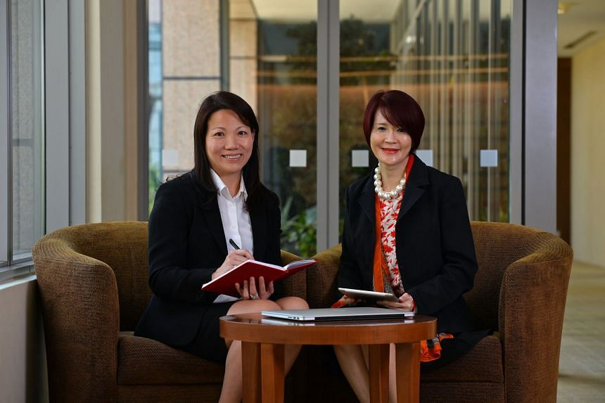 With over 50 years of experience between them, Ms Angeline Chua (left) and Ms Anna Chua (right), have grown and developed their skills throughout the years to better serve their clients. PHOTO: CHONG JUN LIANG