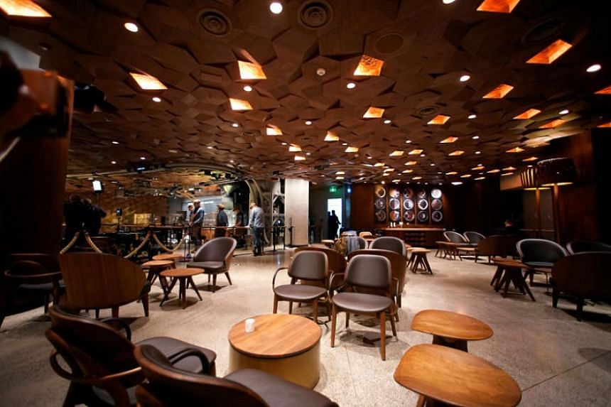 The new Starbucks cafe in Shanghai, China.