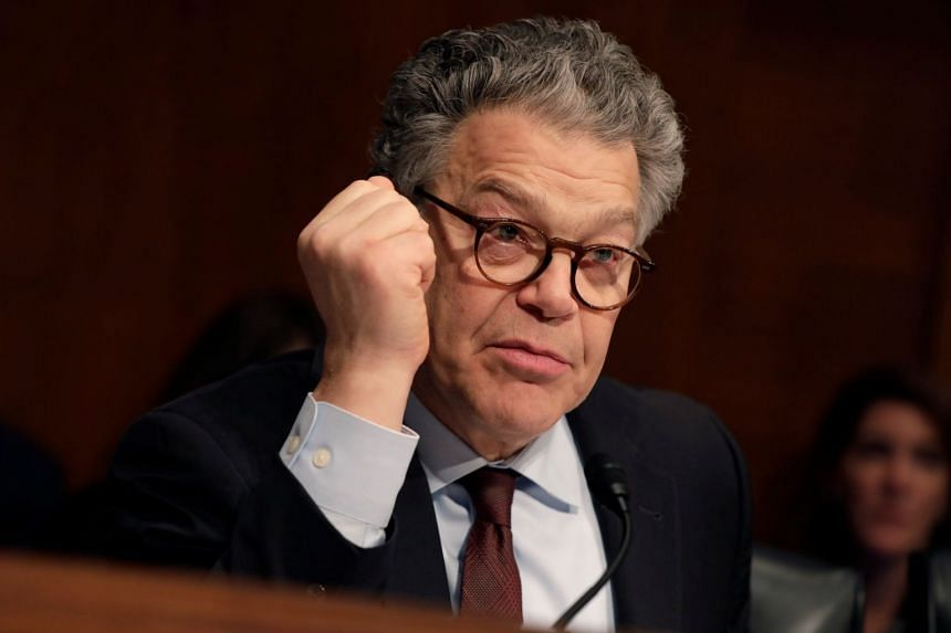 Franken (above) has apologised for most of the incidents and has said he will cooperate with a Senate ethics probe into his behaviour.
