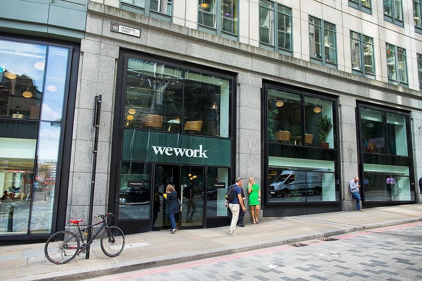 American start-up WeWork, valued at US$20 billion (S$27 billion), has become increasingly important to the health of Londons' property market as well as more vulnerable to any future decline in rents.