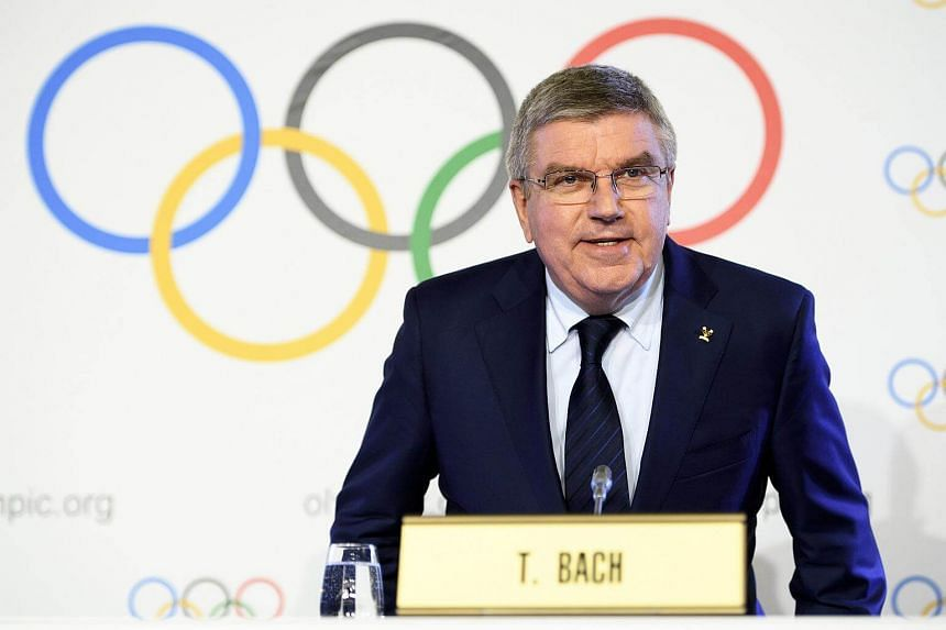 International Olympic Committee (IOC) president Thomas Bach from Germany speaks during a press conference after the executive board meeting of the IOC in Lausanne, Switzerland, on Dec 6, 2017.